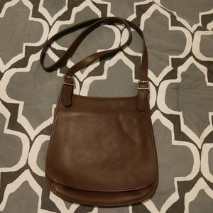 Vintage, Genuine Leather Coach Slim Saddlebag